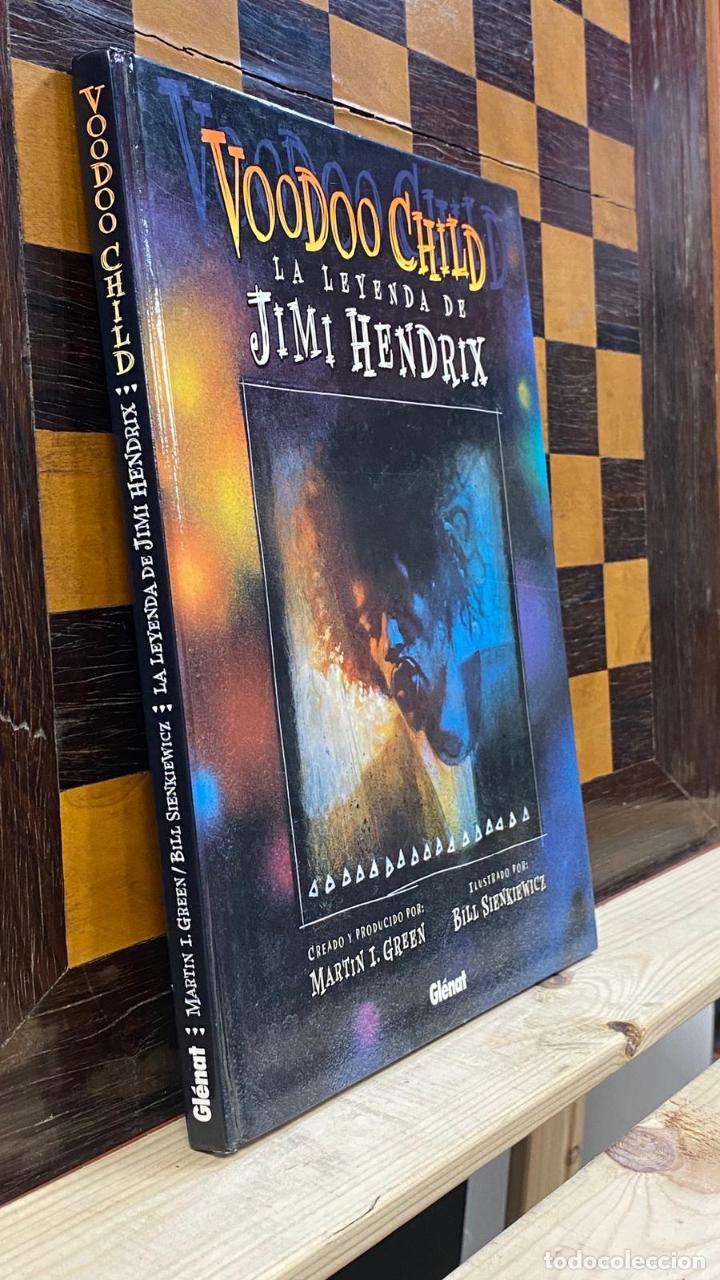 Catálogos de Música: Libro Comic Voodoo Child: La Leyenda de Jimi Hendrix - Martin I. Green & Bill Sienkiewicz Tapa Dura - Foto 2 - 220966381