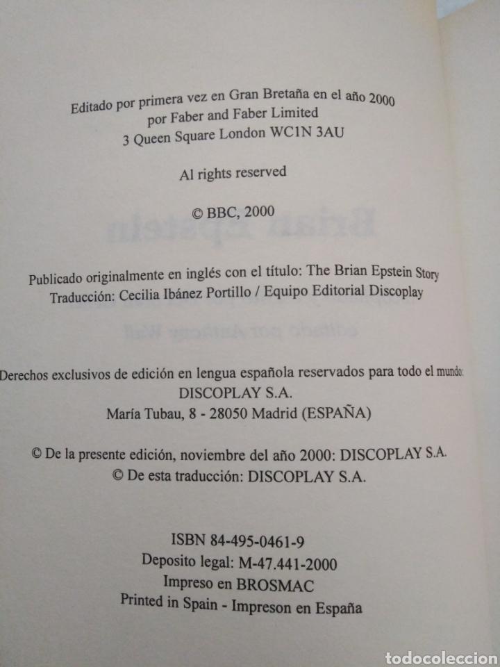 Catálogos de Música: Brian Epstein, Debbie Geller, manager de the Beatles, libro en castellano - Foto 3 - 221424911