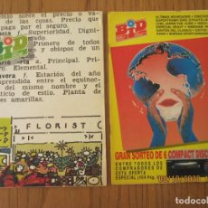 Catálogos de Música: LOTE DE DOS REVISTAS BOLETIN INFORMATIVO DISCOPLAY BID. Lote 221638442