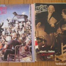 Catálogos de Música: LOTE DE DOS REVISTAS BOLETIN INFORMATIVO DISCOPLAY BID. Lote 221638512