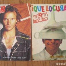 Catálogos de Música: LOTE DE DOS REVISTAS BOLETIN INFORMATIVO DISCOPLAY BID. Lote 221638712