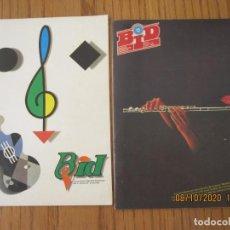 Catálogos de Música: LOTE DE DOS REVISTAS BOLETIN INFORMATIVO DISCOPLAY BID. Lote 221638973
