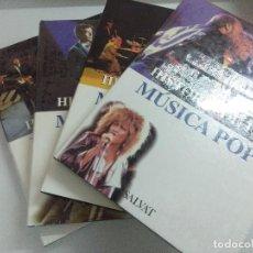 Catálogos de Música: HISTORIA DE LA MUSICA POP/4 TOMOS EDITORIAL SALVAT.. Lote 221769525