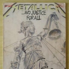 Catálogos de Música: METALLICA : AND JUSTICE FOR ALL - LIBRO PARTITURAS GUITARRA CON TABLATURA - ED. USA 1989 CHERRY LANE. Lote 221813606