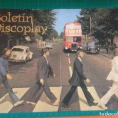 Catálogos de Música: (SOLO) PORTADA Y CONTRA BOLETIN DISCOPLAY - BEATLES - ABBEY ROAD. Lote 221916910