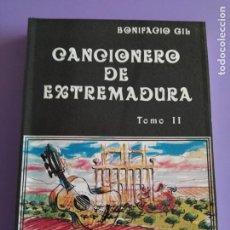 Catálogos de Música: LIBRO.BONIFACIO GIL, CANCIONERO POPULAR DE EXTREMADURA, COL.RAÍCES, CON LETRAS Y PARTITURAS. 202 PAG. Lote 222170046