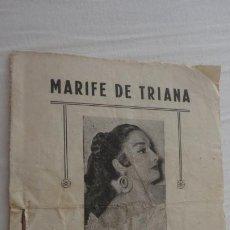 Catálogos de Música: ANTIGUO CANCIONERO.MARIFE DE TRIANA. Nº 1.. Lote 222290460
