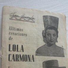 Catálogos de Música: ANTIGUO CANCIONERO.LOLA CARMONA Y LUIS RUEDA.RECACHUTADOS LUQUE.SEVILLA AÑOS 50?. Lote 222290955