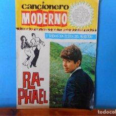 Catálogos de Música: RAPHAEL UN CANTANTE CON ESTILO Y PERSONALIDAD. CANCIONERO MODERNO.. Lote 222301606