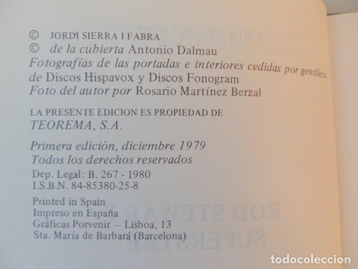 Catálogos de Música: ROD STEWART SUPERSTAR. JORDI SIERRA Y FABRA. TEOREMA S.A. Colección música de nuestro tiempo. - Foto 3 - 222683190