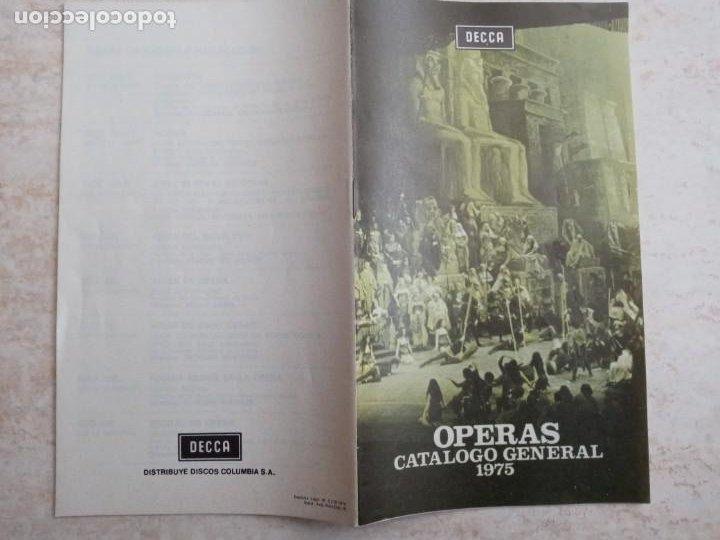 CATALOGO GENERAL OPERAS DECCA 1975 (Música - Catálogos de Música, Libros y Cancioneros)