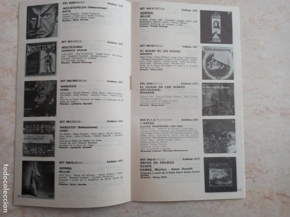 Catálogos de Música: CATALOGO GENERAL OPERAS DECCA 1975 - Foto 2 - 223593437