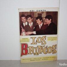 Catálogos de Música: CANCIONERO ANTIGUO DE LOS BRINCOS. AÑO 1966. Lote 223657095