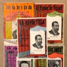 Catálogos de Música: LOTE DE 5 ZARZUELAS - ÓPERAS - SAINETES. MARINA, LA REVOLTOSA, LA TABERNERA DEL PUERTO, EL PUÑAO DE. Lote 224919195