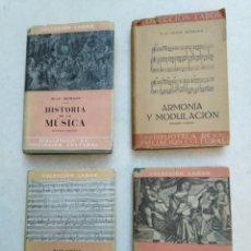 Catálogos de Música: LOTE DE 4 LIBROS DE MÚSICA ( H.RIEMANN Y H. SCHOLZ ). Lote 225643000