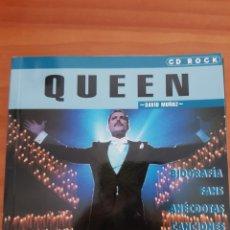 Catálogos de Música: LIBRO QUEEN. FREDDIE MERCURY. EDITORIAL LA MÁSCARA. TAMAÑO CD. DAVID MUÑOZ. Lote 226830225