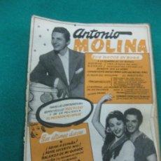 Catálogos de Música: CANCIONERO ANTONIO MOLINA.HECHIZO. EL PESCADOR DE COPLAS.. Lote 227723975