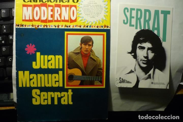 LOTE JUAN MANUEL SERRAT -CANCIONERO Y POSTAL (Música - Catálogos de Música, Libros y Cancioneros)