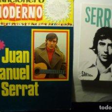 Catálogos de Música: LOTE JUAN MANUEL SERRAT -CANCIONERO Y POSTAL. Lote 227843607