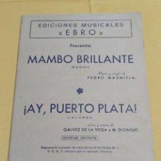 Catálogos de Música: 1963 MAMBO BRILLANTE. Lote 229056835