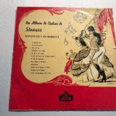 Catálogos de Música: VINILO UN ALBUM DE VALSES STRAISS. Lote 230226150