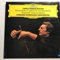 Catálogos de Música: CARLO MARIA GIULINI MUSSORGSKY:CUADROS DE UNA EXPOSICION. Lote 230227990