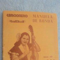 Cataloghi di Musica: ANTIGUO CANCIONERO.MANUELA DE RONDA.EDITORIAL ALAS Nº 42.. Lote 232875945