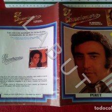 Catálogos de Música: FASCICULO EL CANCIONERO 1 PERET LAUREN POSTIGO U21. Lote 233282075