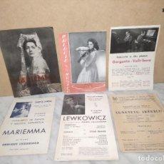 Catálogos de Música: 6 PROGRAMAS PALACIO DE LA MÚSICA (AÑOS 40) - ROSA MAS - MARIEMMA - VALLRIBERA - LEWKOWICZ. Lote 233299545