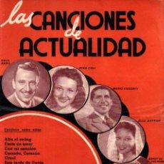 Catálogos de Música: LAS CANCIONES DE ACTUALIDAD AÑO 1 Nº 1. Lote 233364440