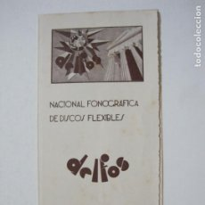 Cataloghi di Musica: BARCELONA-DELTOS-NACIONAL FONOGRAFICA DISCOS FLEXIBLES-CATALOGO PUBLICIDAD-VER FOTOS-(K-1592). Lote 233597825