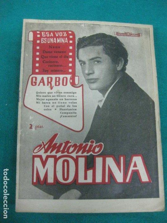CANCIONERO ANTONIO MOLINA.1955 (Música - Catálogos de Música, Libros y Cancioneros)