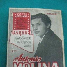 Catálogos de Música: CANCIONERO ANTONIO MOLINA.1955. Lote 233812455