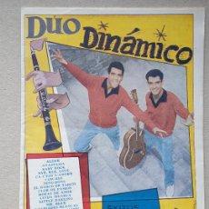 Catálogos de Música: REVISTA CANCIONERO DE ' DUO DINAMICO ' - EDICIONES BISTAGNE. Lote 233828430