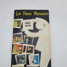Catálogos de Música: LOS DISCOS MICROSURCO ( AÑO 1959 ) CATÁLOGO GENERAL. Lote 234920310
