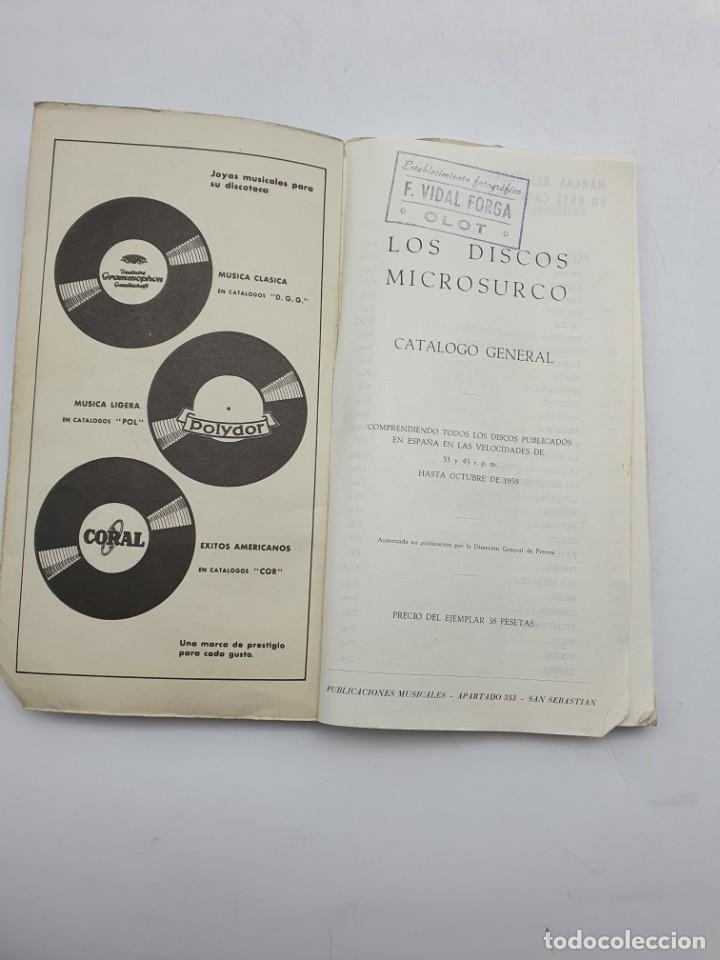 Catálogos de Música: LOS DISCOS MICROSURCO ( AÑO 1959 ) CATÁLOGO GENERAL - Foto 3 - 234920310