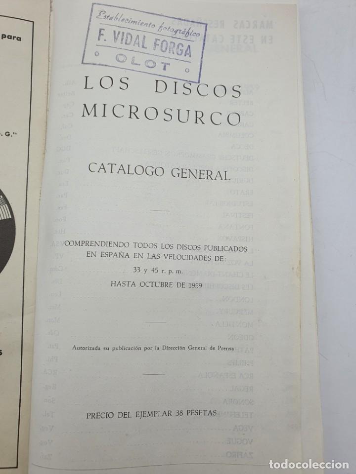 Catálogos de Música: LOS DISCOS MICROSURCO ( AÑO 1959 ) CATÁLOGO GENERAL - Foto 4 - 234920310