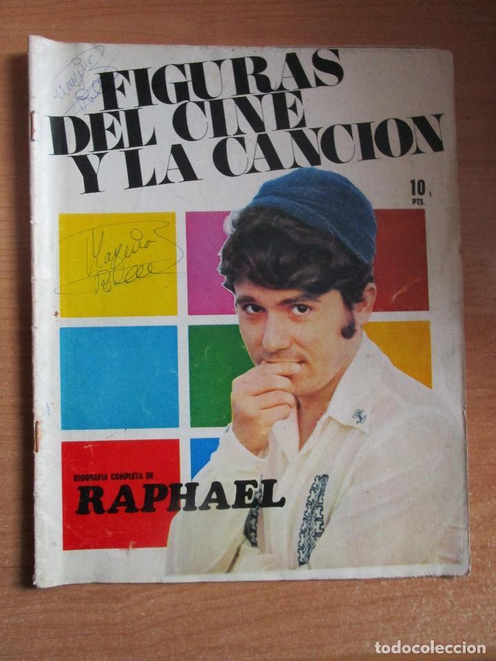 FIGURAS DEL CINE Y LA CANCION BIOGRAFIA COMPLETA DE RAPHAEL , VER LAS FOTOS (Música - Catálogos de Música, Libros y Cancioneros)