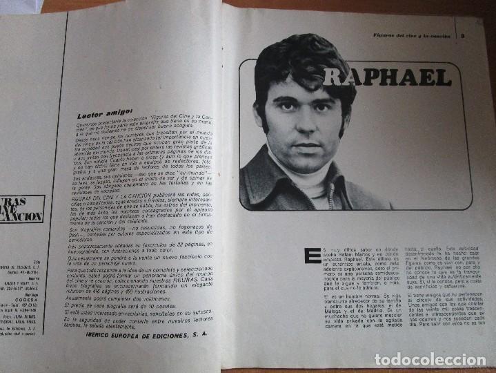 Catálogos de Música: FIGURAS DEL CINE Y LA CANCION BIOGRAFIA COMPLETA DE RAPHAEL , VER LAS FOTOS - Foto 2 - 234929085
