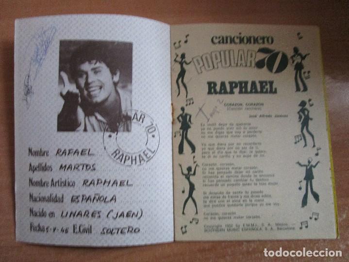 Catálogos de Música: CANCIONERO POPULAR 70 RAPHAEL POSTER CENTRAL RAPHAEL VER LAS FOTOS - Foto 2 - 234930870