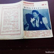 Catálogos de Música: CANCIONERO POPULAR, RINA CELI. Lote 235095795