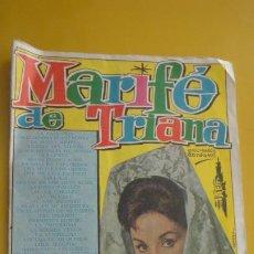 Catálogos de Música: ANTIGUO CANCIONERO.MARIFE DE TRIANA.EDICIONES BISTAGNE.BARCELONA Nº 51. 1963. Lote 235139305