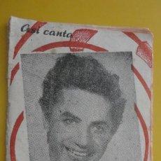 Cataloghi di Musica: ANTIGUO CANCIONERO.ASI CANTA ANTONIO MOLINA.IMP MINERVA.VALLADOLID.. Lote 235142620