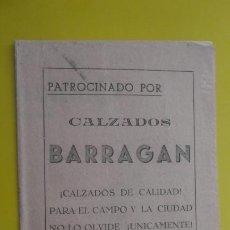 Cataloghi di Musica: LETRILLA PASODOBLE.OBSQUIO CIRCULO ESPAÑOL ARTESANOS CONJUNTO EMERITA.CALZADOS BARRAGAN. MERIDA. Lote 235143435