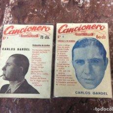 Catálogos de Música: CARLOS GARDEL / LOTE DE DOS CANCIONEROS. Lote 235560210