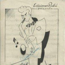 Catálogos de Música: ESTO ES RITMO Y EL RITMO SE SIENTE DE ANGEL G. RUIZ. Lote 235567330
