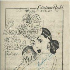 Catálogos de Música: BAILA ESTA SAMBA, DE JOSÉ URÍA Y MIRESE USTED, DE ZURI. Lote 235568080