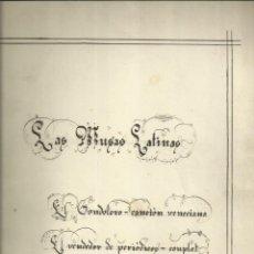 Catálogos de Música: LAS MUSAS LATINAS. EL GONDOLERO; EL VENDEDOR DE PERIODICOS Y LAS TORERAS. Lote 235571900
