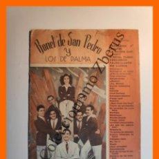 Catálogos de Música: BONET DE SAN PEDRO Y LOS DE PALMA .- (CANCIONERO). Lote 235648740