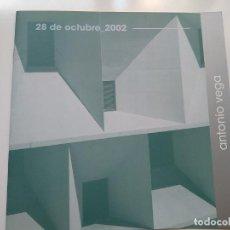 Catálogos de Música: ANTONIO VEGA - LIBRITO PROMOCIONAL AUDITORIO DE LEON . 28-10-2002. Lote 236255895